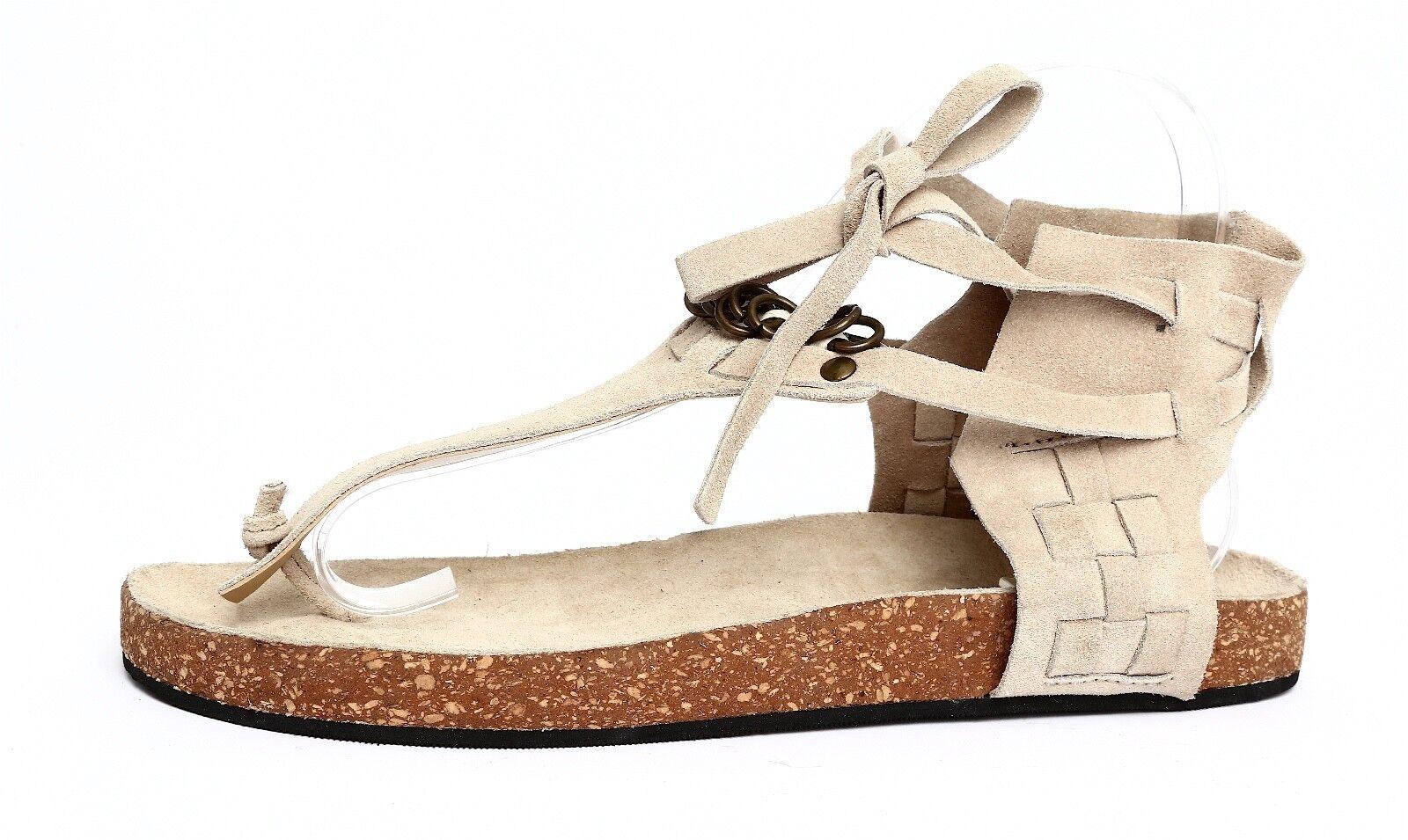 Free People Women's Tan Suede Sandals Sz 37