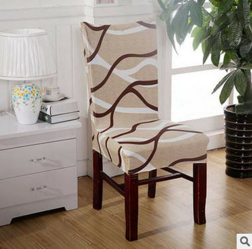 Stretch Spandex Pattern Chair Covers For Kitchen Chair Short Dining Chair Cover