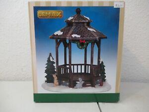 Lemax Winter Gazebo set IN BOX COMPLETE