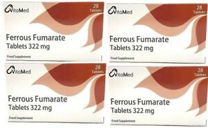 Ferrous Fumarate 322mg Tab - 4 Pack Of 28 - Iron Deficiency Anaemia
