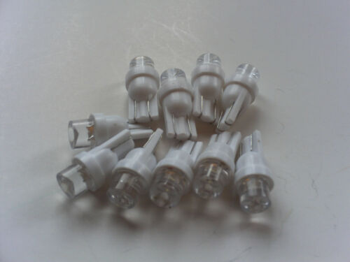 100 NEW Pinball 6.3 Volt LED RED Concave Replacement Bulbs 555 Wedge Base T10