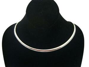 New-16-034-Silver-Plated-6mm-Wide-Omega-Chain-Choker-Collar-Necklace-CO7