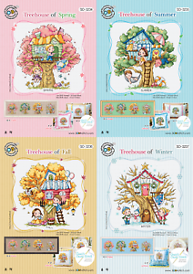Four seasons Tree House Sodastitch 4 Patterns