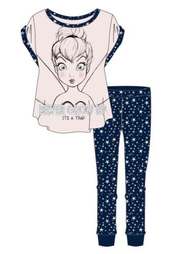 Ladies Women Character Pyjamas Tinkerbell Pjs Nightwear Nightdress short sleeve