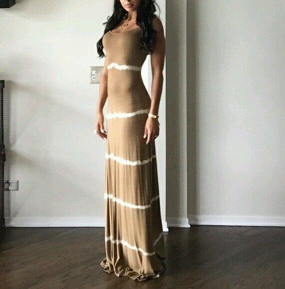 NEW guess by marciano Gisella Tie-Dye mocha latte Dress size XS