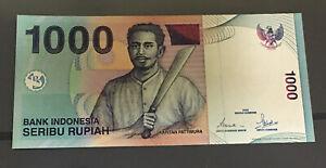 2002 Indonesia  1000 Rupiah prefix ZNZ 113992 AUNC