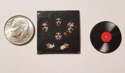 Miniature record album Barbie Gi Joe 1/6  Playscale  Queen Mercury Band