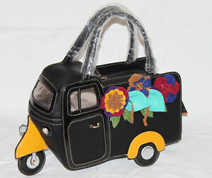 Piaggio Ape Nachbildung Handtasche Dreirad Rollermobil Vespacar Damentasche