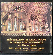 Gaston Litaize Saint-Wandrille : Bach, Franck, Messiaen, Litaize... LP NM, CV EX