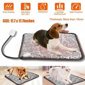 Pet-Electric-Heat-Pad-Blanket-Heated-Heating-Mat-Dog-Cat-Bunny-Bed-Waterproof
