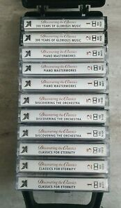 DISCOVERING THE CLASSICS Music Cassette Tapes Collection Bundle with Case