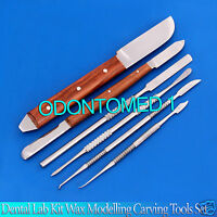 Dental Lab Kit Wax Modelling Carving Tools Set Instruments Stainless Steel
