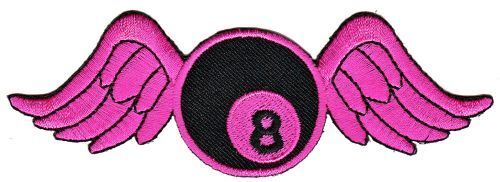 As51 pool biliardo 8 Ball ali wings ricamate STAFFA immagine Patch SFERA Rockabilly