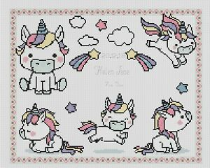 Cross Stitch Chart New Baby Birth Sampler its a boy FlowerPower37-uk