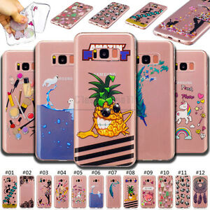 For-Samsung-TPU-Rubber-Various-Skin-Shell-Back-Clear-Protective-Cover-Soft-Case