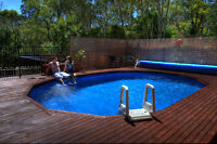 Above Ground Pool Package 8.2m X 4.5m Chlorine Free Auto Cleaner Aust Made