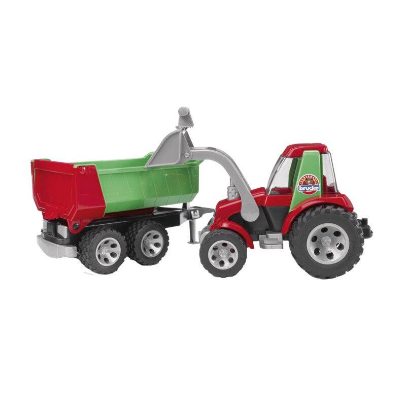 20116 20116 20116 Bruder Traktor mit Frontlader und Kippanhänger Roadmax Serie a02301