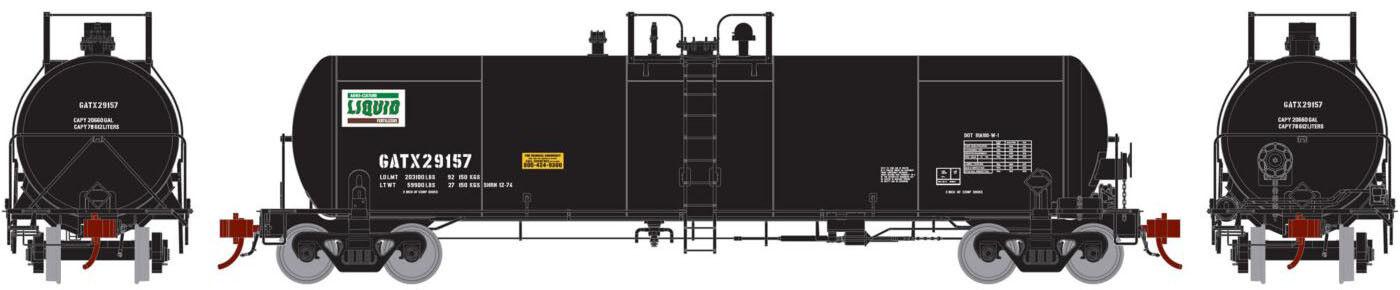 Athearn Genesis HO Scale GATC 20,000-Gallon Acid Tank Car GATX Agro Culture