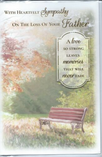Father Sympathy card  On The Loss of Your Father    quality card   J3
