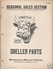 Farm Manual - Minneapolis-Moline - LD D E Sheller Fast Mover Parts List (FM321)