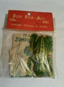 Vintage-Fun-for-all-MAGIC-TRICKS-amp-GAGS-includes-a-tin-litho-FROG-Ray-Rohr