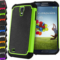 Shock Proof Dual Silicone Hard+Soft Case Cover For Samsung Galaxy S4 i9500 i9505