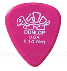 Pack-of-12-Dunlop-DELRIN-500-Guitar-Picks-Plectrums-1-14mm-Pack-of-12-picks