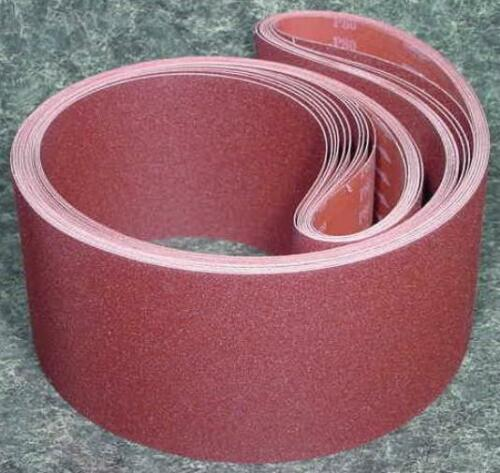 """10pc 6/"""" X 80/"""" 100 GRIT SANDING BELT Butt Joint sand paper Made in USA cloth back"""
