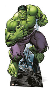 El Disfraz De Hulk Lifesize Carton Recorte Pie Standup Marvel Avengers Assemble Ebay