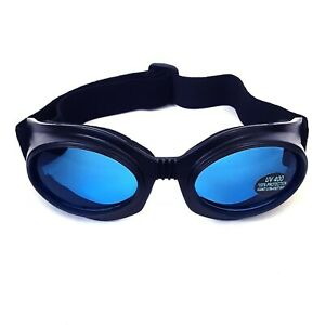 Gothic-Industrial-Cyber-Goth-Punk-SciFi-Anime-Cosplay-Blue-Lens-Black-Goggles