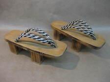 "VINTAGE Geta Sandali/scarpe ~ Legno Zoccoli/Infradito ~ giapponese/cinese ~ 9"""