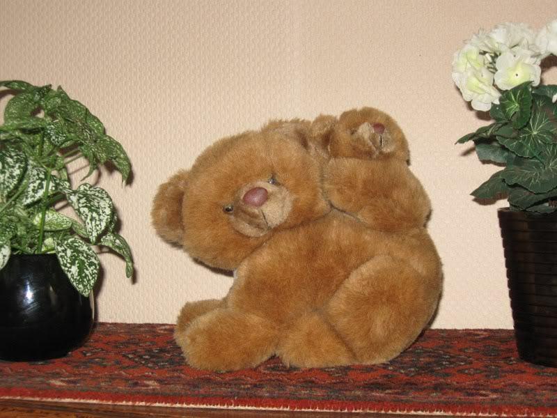 Brand Textile Dutch Mother Bear with Baby Cub braun Stuffed Animal Plush 16 inch