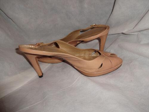 39 Nude Women Vgc Strap Size Weitzman Sandal Leather Eu 6 Buckle Heel Stuart Uk p4FqxA
