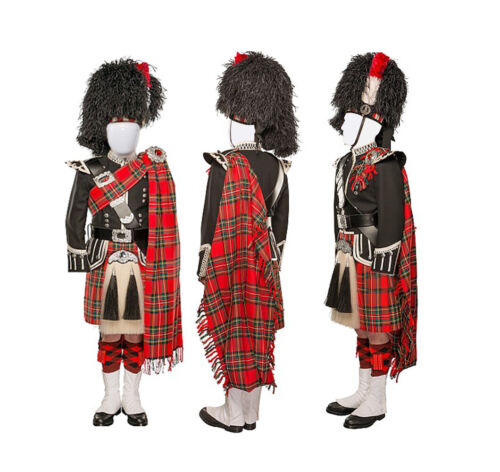 24 PC's Pipe Band Uniform Bagpiper Outfit Men's Doublet Jacket & kilt Set