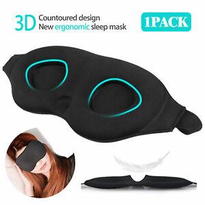 Travel-Sleep-Eye-Mask-3D-Memory-Foam-Padded-Shade-Relax-Sleeping-Blindfold-Plugs