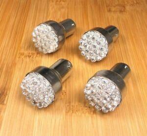4 BBT 12 volt 27 White LED BAY15D Double Filament Light Bulbs