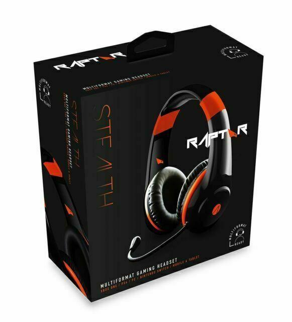 Stealth ACAEACABP70919 OrangeBlack Over Head Gaming Headset