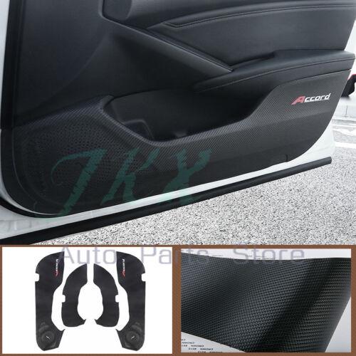 4X Black PU Door Interior Protective Film Cover Trim k For Honda Accord 2018-19