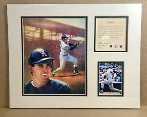 California Angels Tim Salmon 1995 Baseball 11x14 MATTED Kelly Russell Print