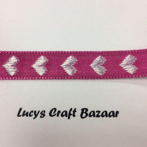 coeurs ric rac sparkle 1.8m longueur love valentine ruban 24 designs rouge rose