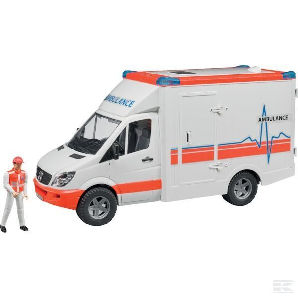 Bruder Mercedes Sprinter Ambulance 1 16 Scale Model