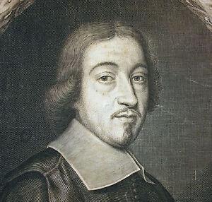 Portrait-A-Clergyman-Per-Jean-Joan-THE-CHILD-Lenfant-1662-Engraving-Xvii-Th