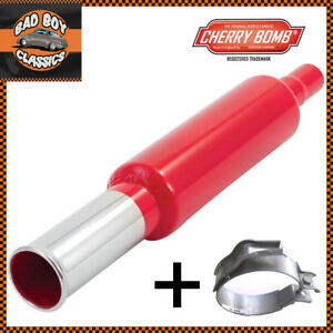 Cherry-Bomb-UNIVERSAL-Back-Box-Tail-bomb-Exhaust-Pipe-38-45mm-Inlet-Bracket