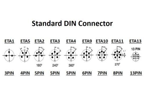 PHILMORE ETA11 1PC 8-PIN MALE DIN MICROPHONE MIKE IN-LINE CONNECTOR PLUG