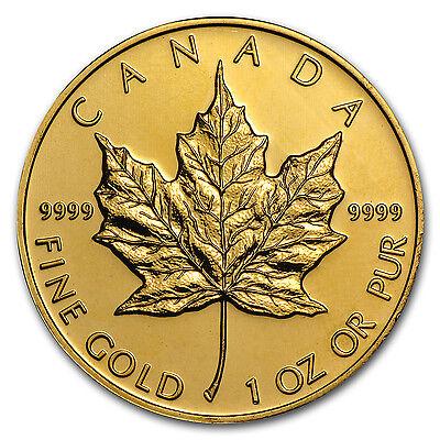 Canada 1 oz Gold Maple Leaf .9999 Fine (Random Year) - SKU #9