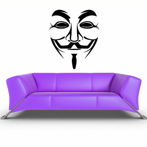 Z209 Wall Decals Decor Art Mural Sticker Hackers Mask Logo decor art print