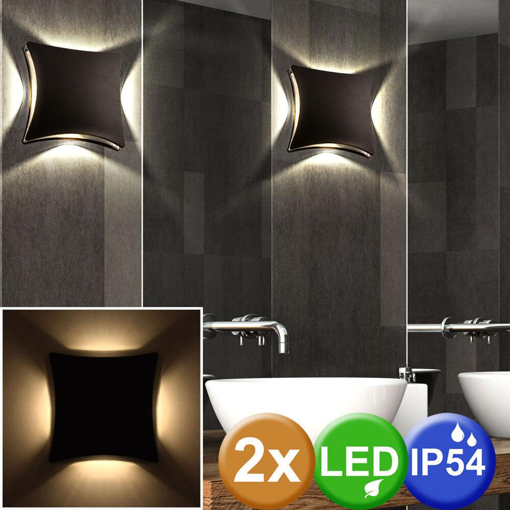 Set de 2 LED Éclairage mural extérieur accent façades lueur terrasse lampes