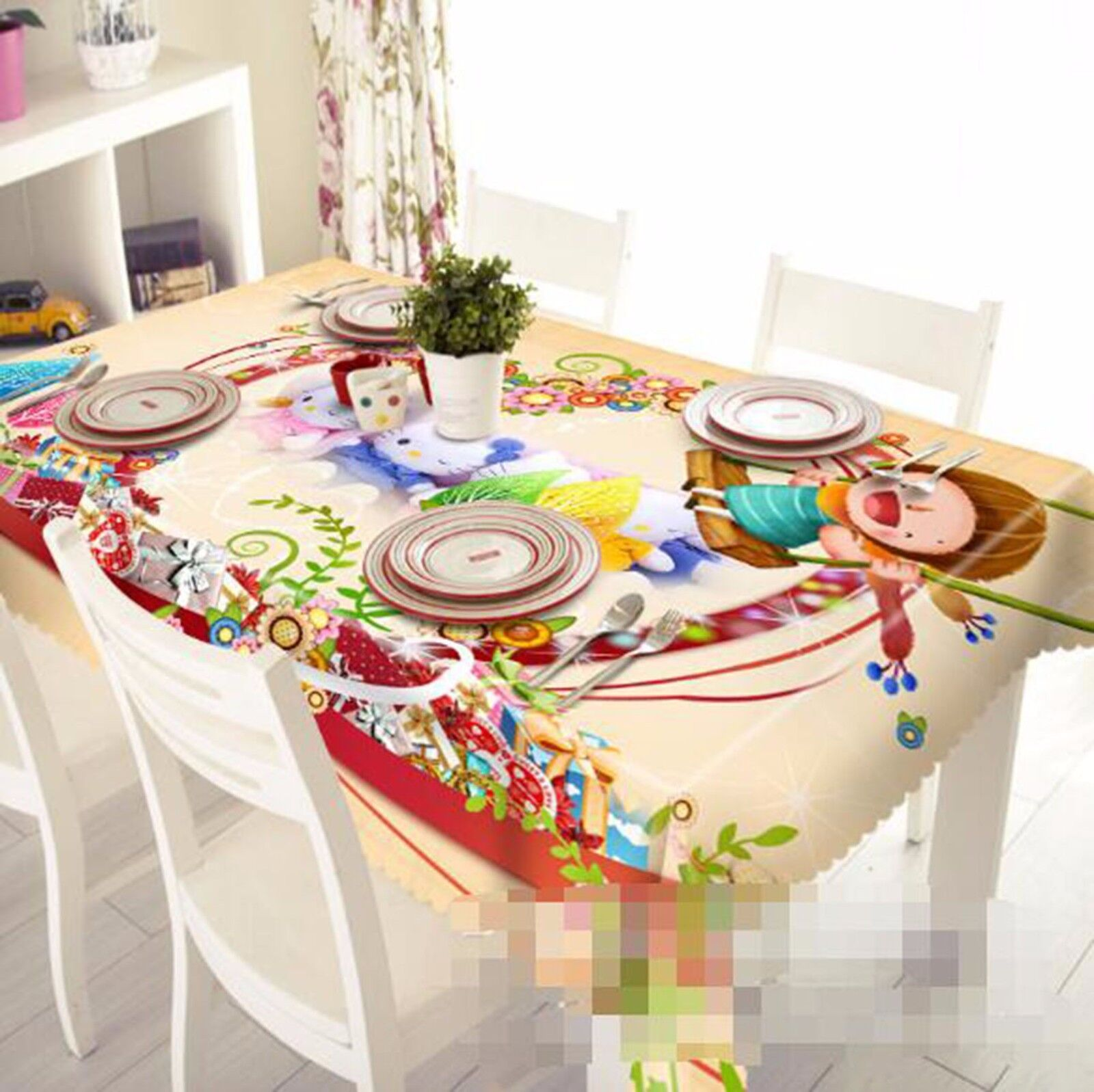 3D Cartoon 67 Tablecloth Table Cover Cloth Birthday Party AJ WALLPAPER UK Lemon