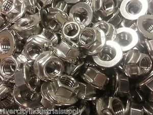 M6-1.0 or 6mm x 1.0 Flange Nuts 10.9 Spin Wiz Nuts 200 Pcs smooth bottom 200