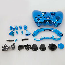 Full Housing Shell Case Parts Buttons Kits For Xbox 360 Wireless Controller Blue